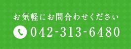 お気軽にお問合わせください 042-313-6480